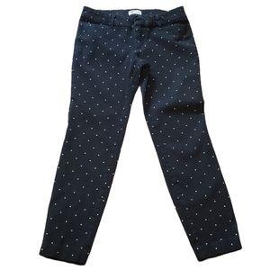 Old Navy Black & White Pixie Pants Size 4